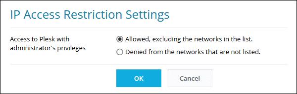 Secure Your Plesk Server - Restrict IP Address for Plesk Web Admin