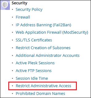 Secure Your Plesk Server - Restrict IP for Plesk Web Admin